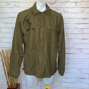 """Undefined """"Go.Fight.Win.RESPECT Green Mens Jacket"""